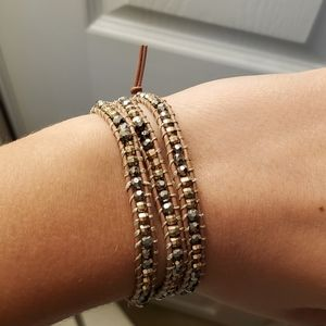 Stella & Dot Rose Gold & Silver Wrap Bracelet